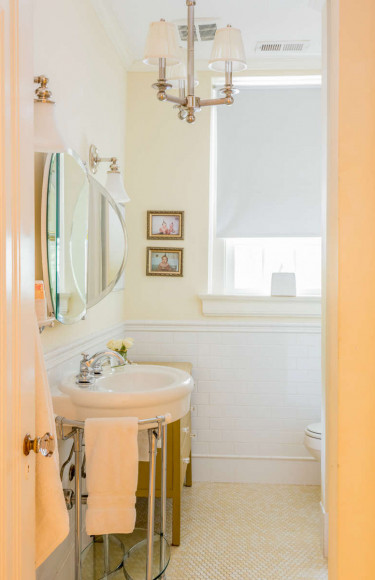 Hall Full Bath Yellow And White