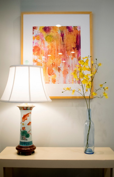 Large Wall Art Koi Lamp Side Table