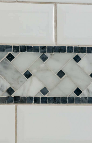Master Bath Accent Tile And Beveled Subway Tile
