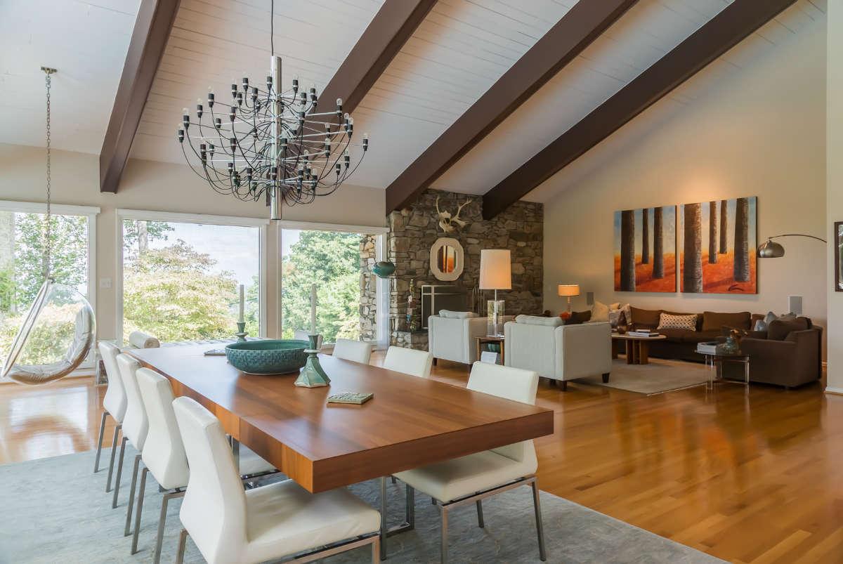 Modern Living Dining Room Design With Open Floor Plan