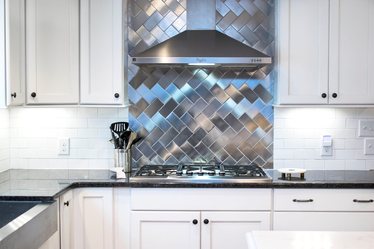White Stainless Subway Tile