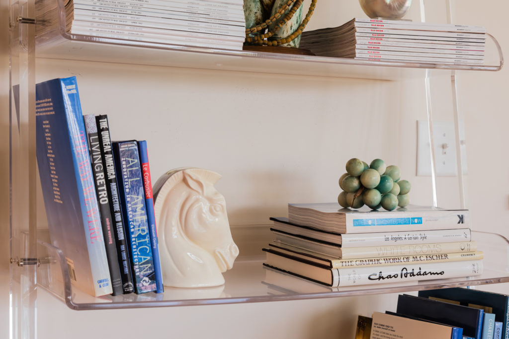 bookshelf styling tips lay books sideways
