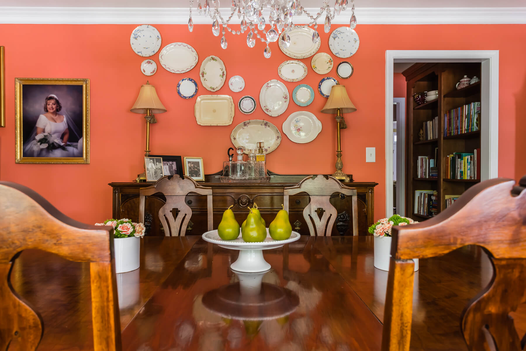 Coral Walls Dining Room Plate Collection