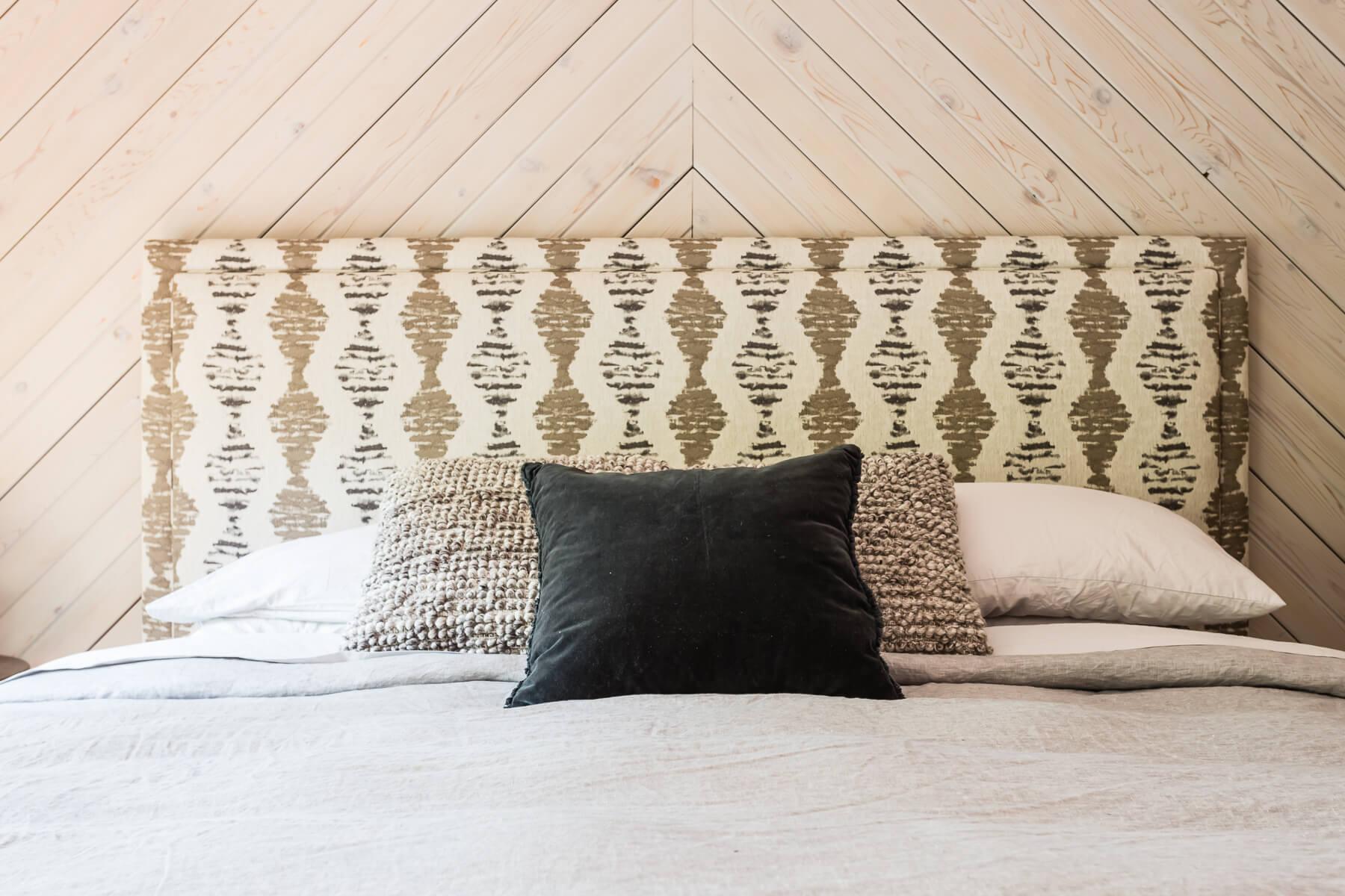 Custom Tribal Pattern Fabric Headboard Modern Design