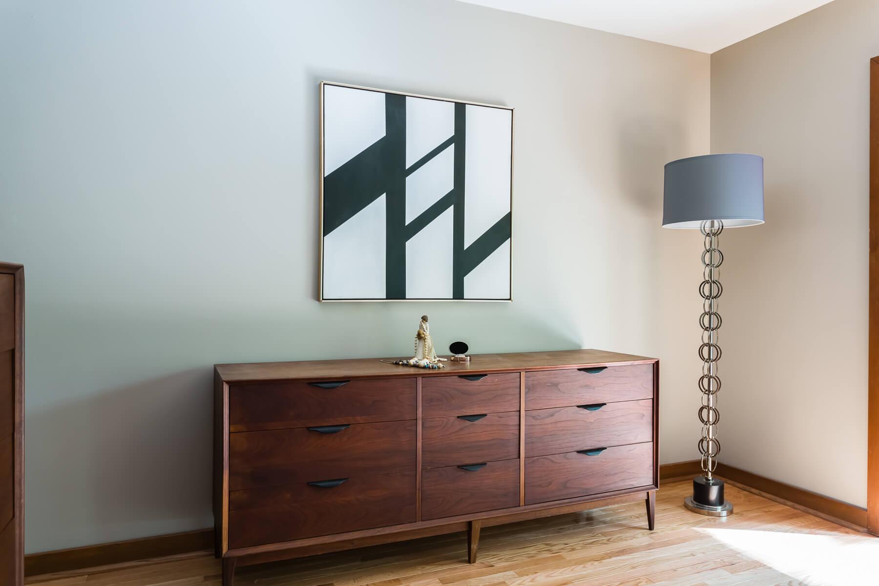Mid Century Dresser Modern Art Master Bedroom