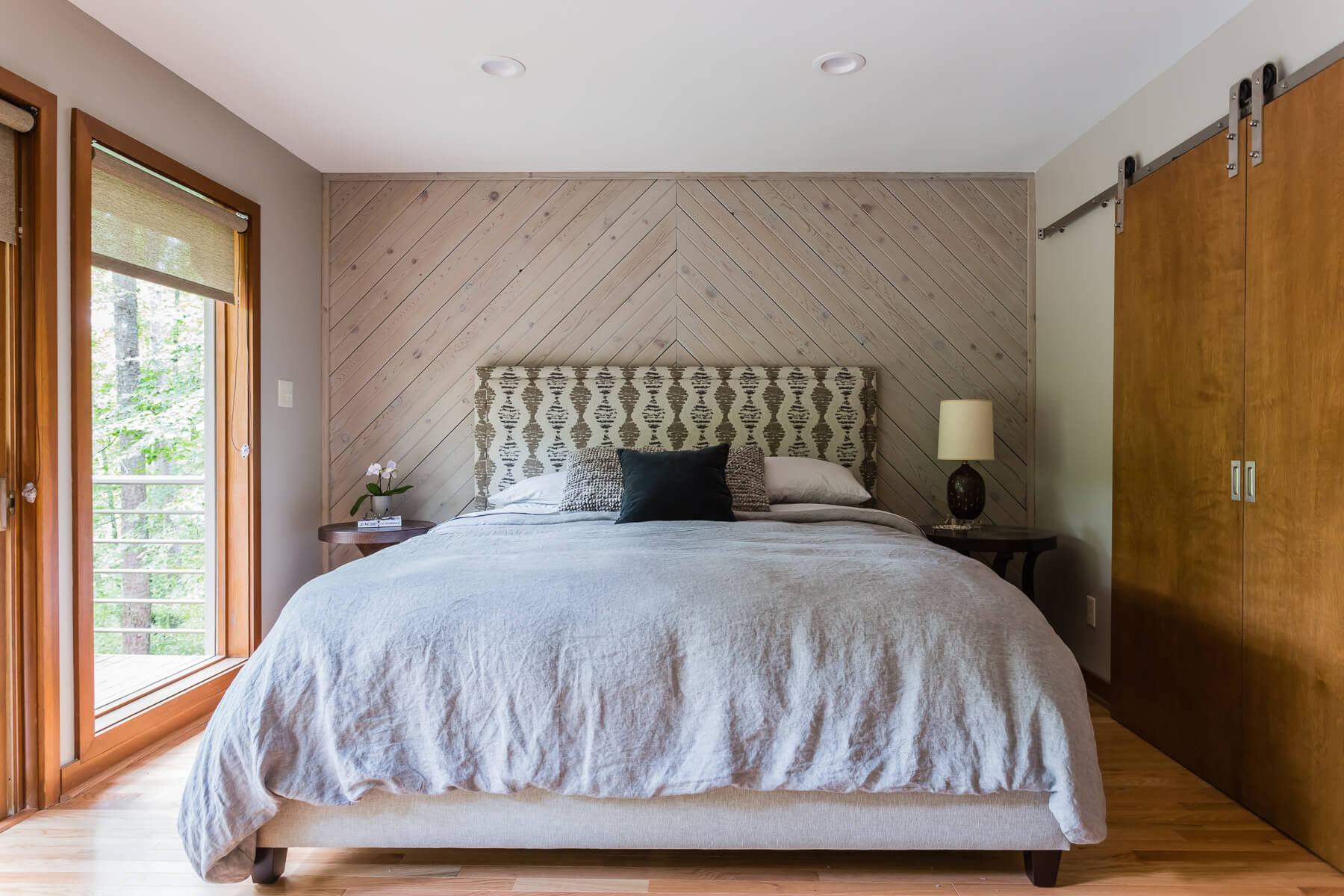 Mid Century Interior Design Bedroom Wood Wall