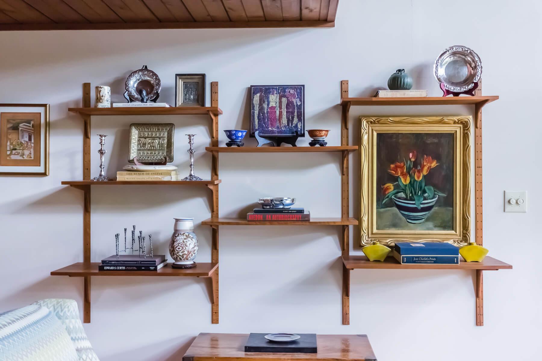 Mid Century Modern Danish Teak Floating Shelf System