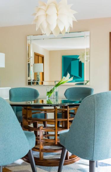 Mid Century Modern Interior Design Dining Room Art