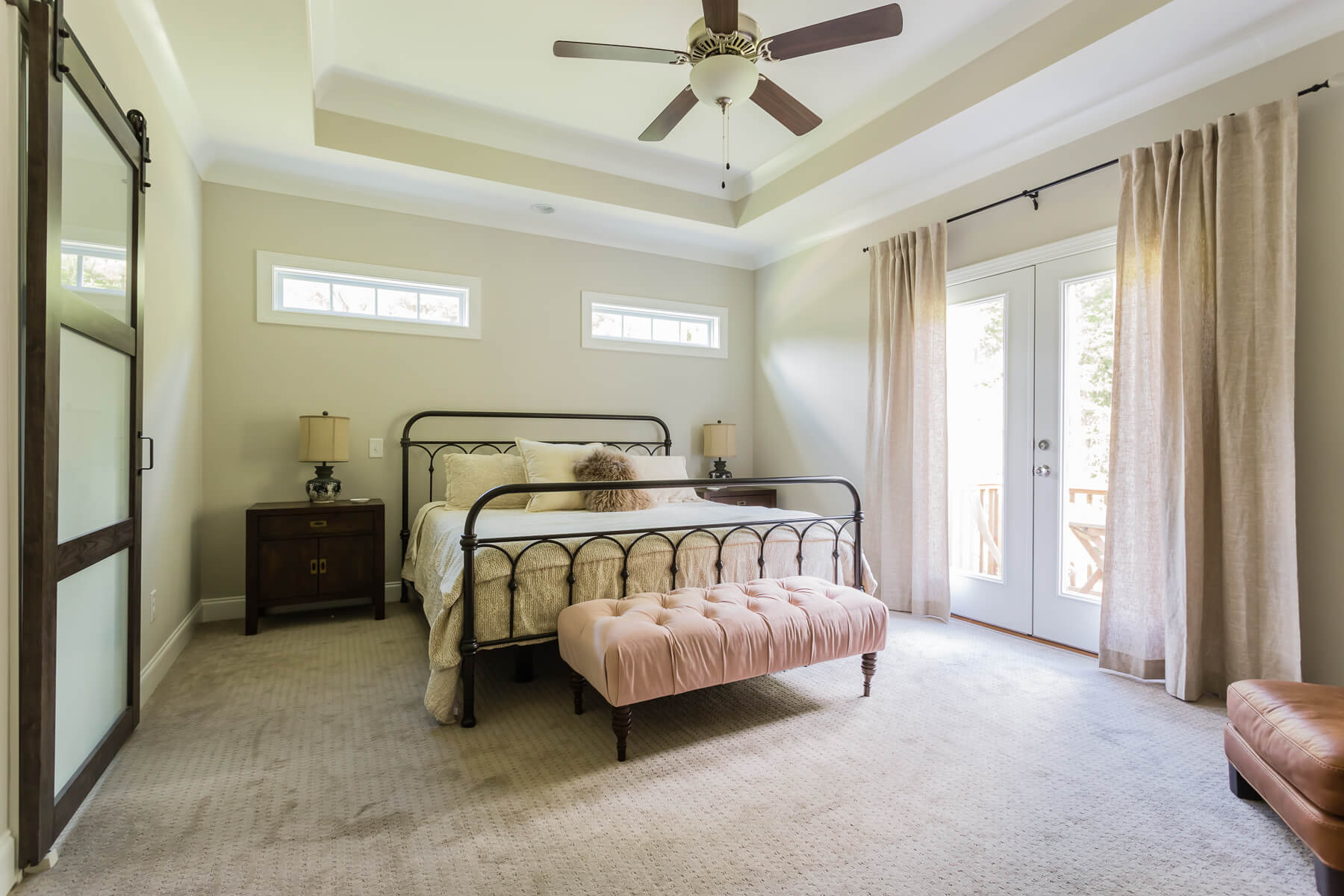 Modern Farmhouse Master Bedroom Iron Bed
