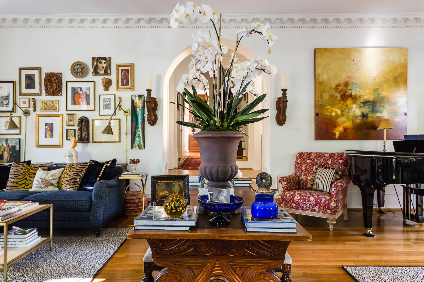 Raleigh Nc Interior Design Spanish Bohemian Living Room