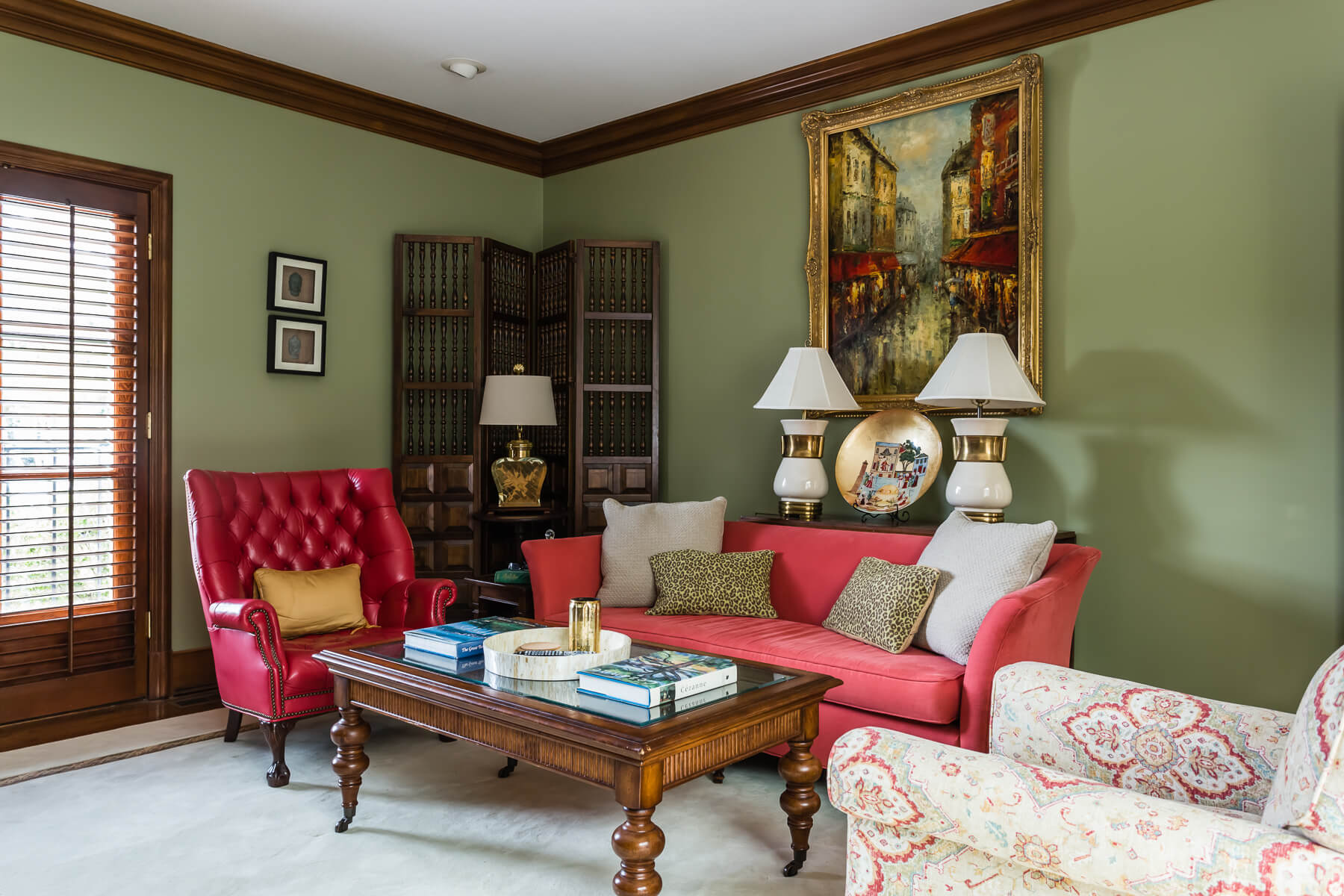 Sage Wall Paint Sitting Room Den