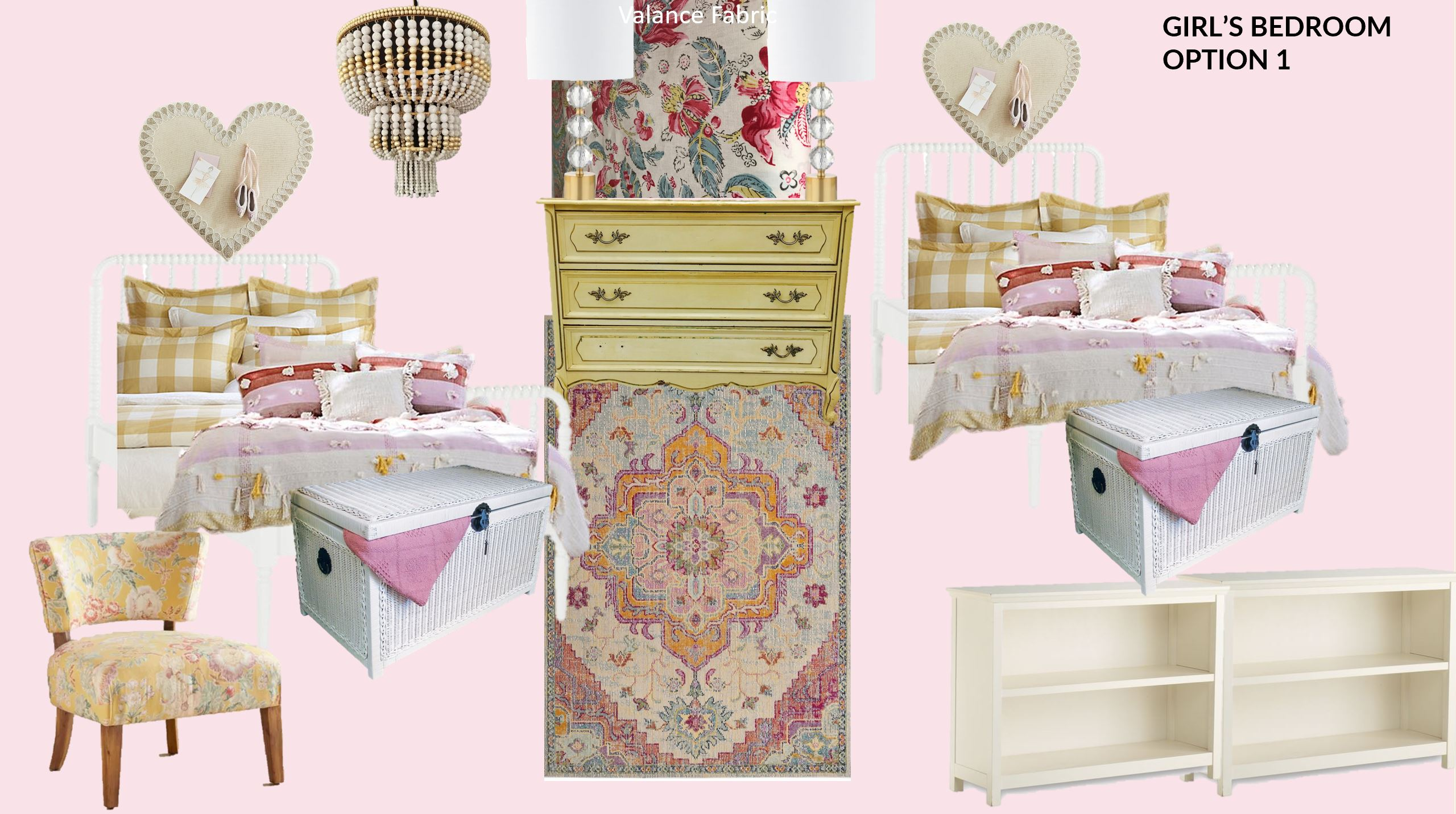 Young Girl Pink Yellow Bedroom Design Ideas