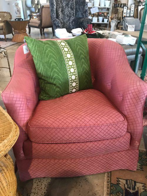 Vintage Coral Barrel Chair