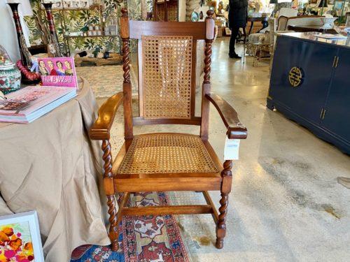 Barley Leg Cane Chair