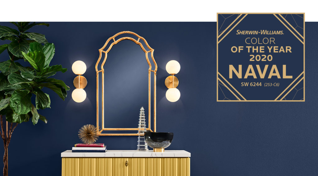 Sherwin Williams Naval Dark Blue Paint Color design trends