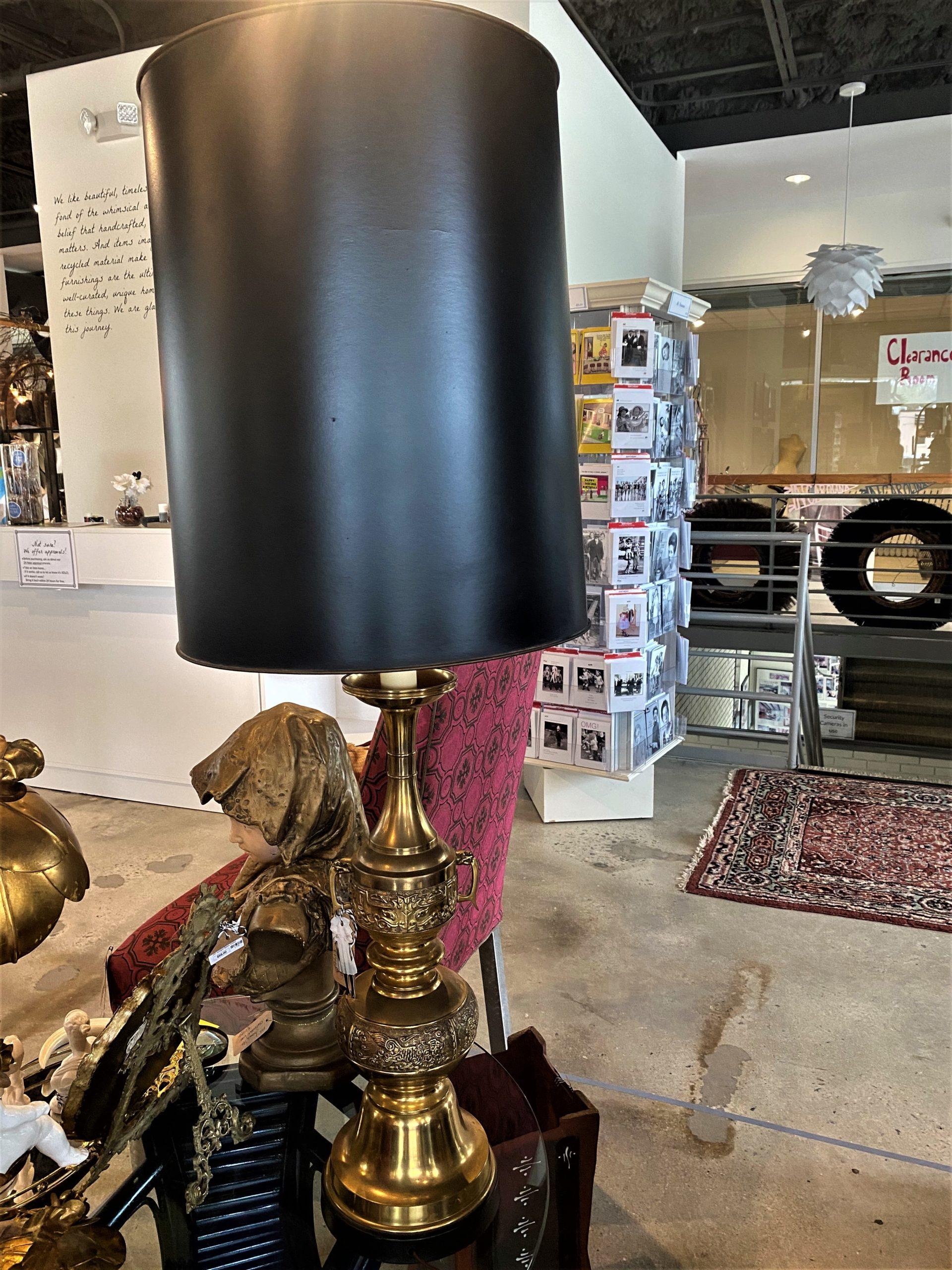 Ad Mid Mod Tall Brass Lamp