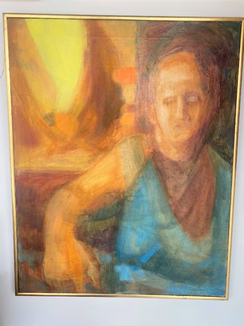 Abstract Woman Oil Painting