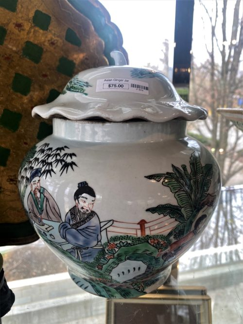 Asian Scenic Ginger Jar