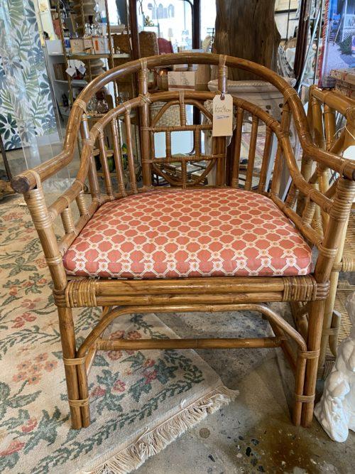 Asian Style Bamboo Arm Chair Cushion