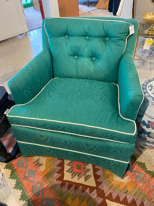 CC Vtg Green Club Chair