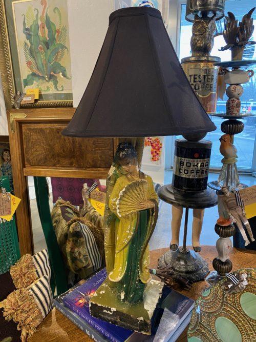 AD Asian Female Bisque Lamp