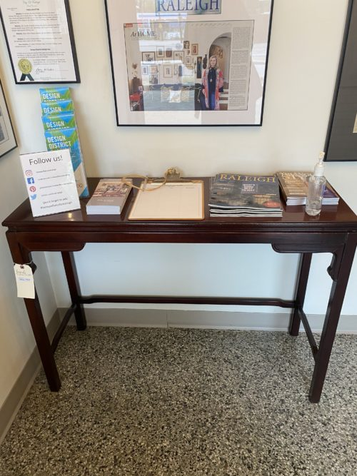 Open Bottom Console Table