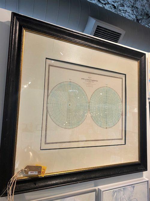 Sh Baker Furniture Antique Map