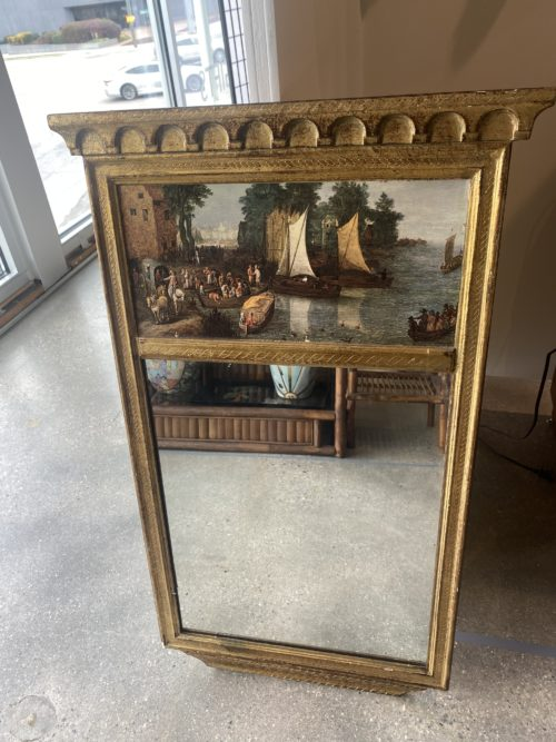Sr French Painted Scene Mirror