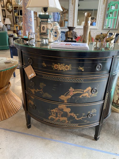 Union National Company Chinoiserie Demilune Chest
