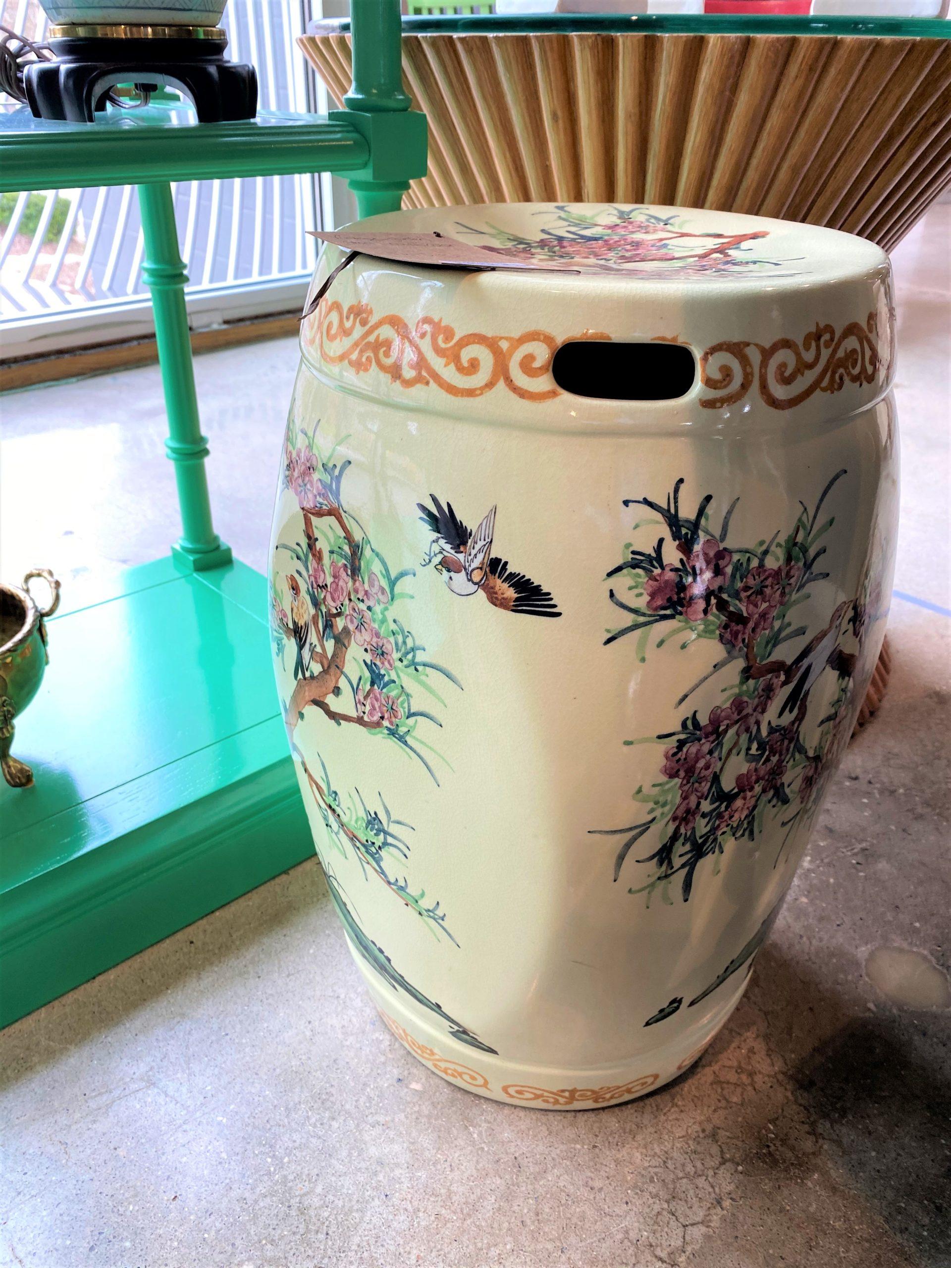 Vintage Asian Garden Stool
