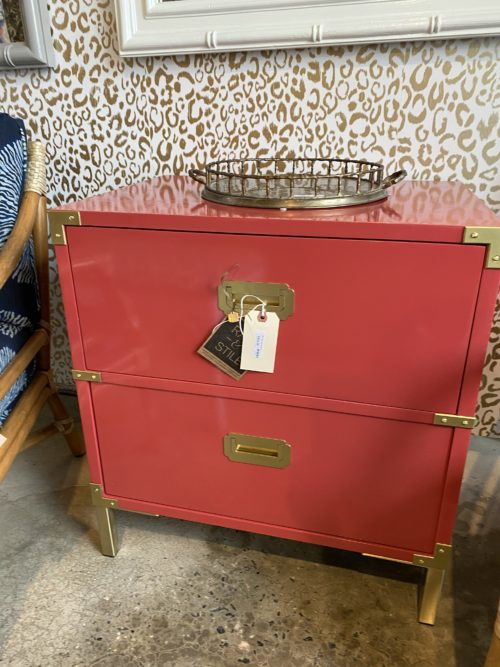 Vintage Lane Lacquered Campaign Chest
