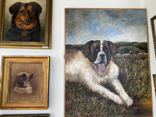 Antique Vintage Dog Paintings Portraits