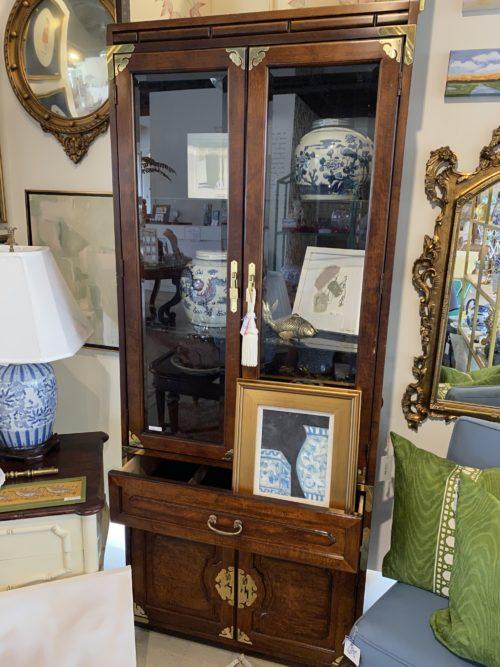 Bernhardt Ming Asian Style Hutch China Display Cabinet
