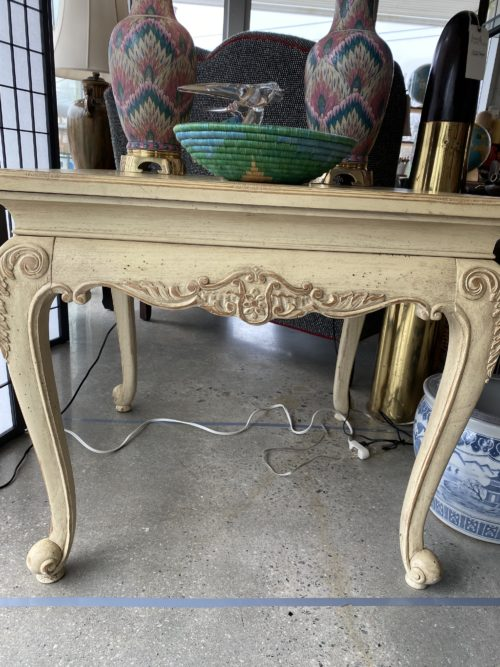 French Style Creamy White Occasional Side End Table