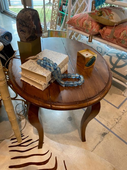 Al French Style Side Plank Wood Table