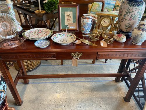 Hb Asian Chippendale Console Table
