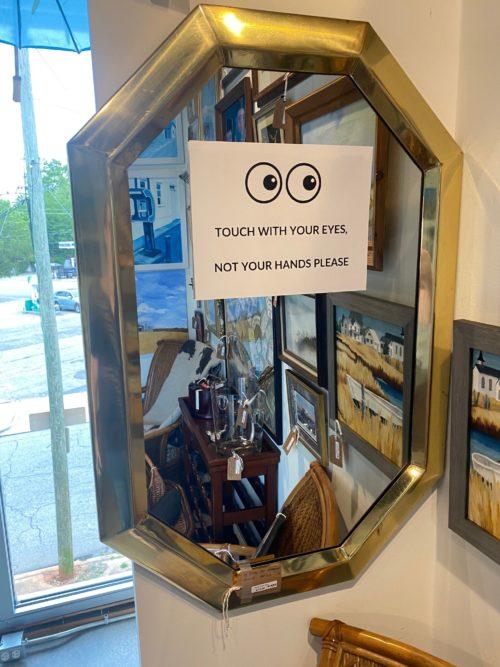 Hb Brass Octagonal Mirror