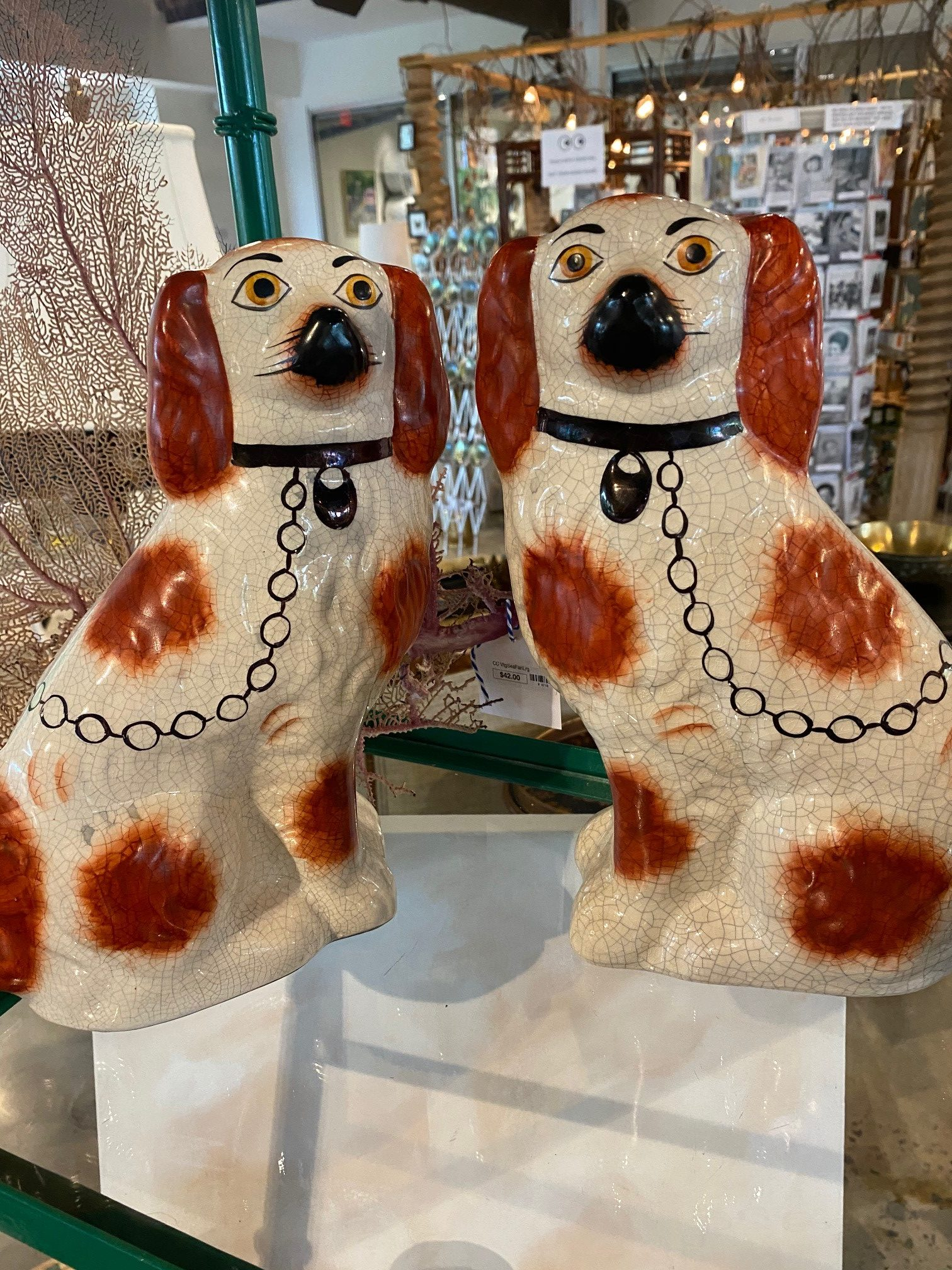 Pair Russet Staffordshire Dogs