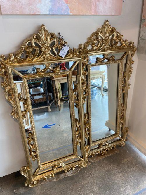 Sc Gold Mirrors Pair