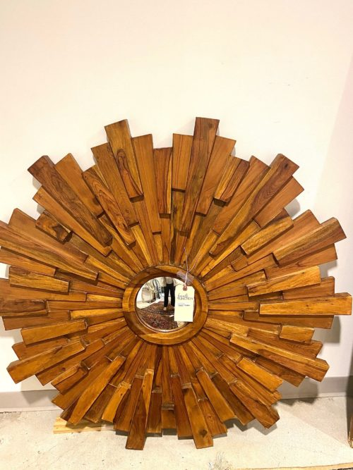 Wood Spoke Mirror