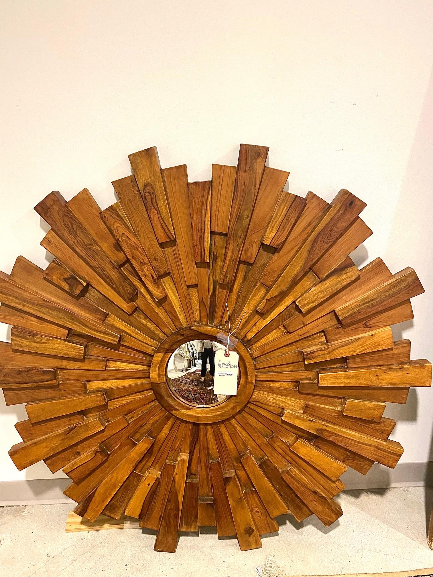 Wood Spoke Mirror
