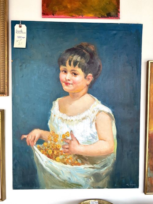 Young Girl With Flower Painting
