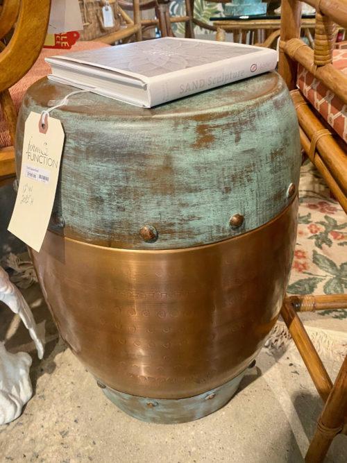 Turkish Copper Round Garden Stool Table
