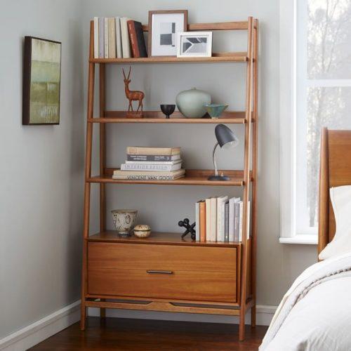 West Elm Mid Century Acorn Bookshelf home office ideas