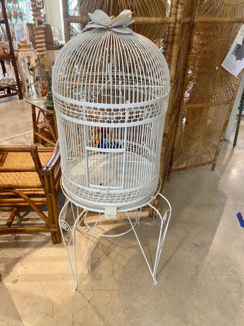 White Extra Large Metal Birdcage