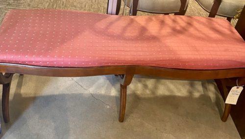 Henredon Mid Century Upholstered Curved Leg Bench