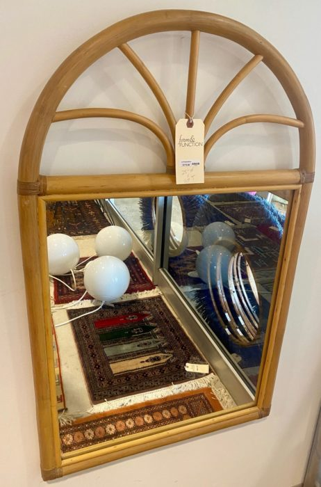 Arched Rattan Mirror