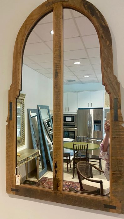 Arched Two Panel Rustic Farmhouse Style Mirror