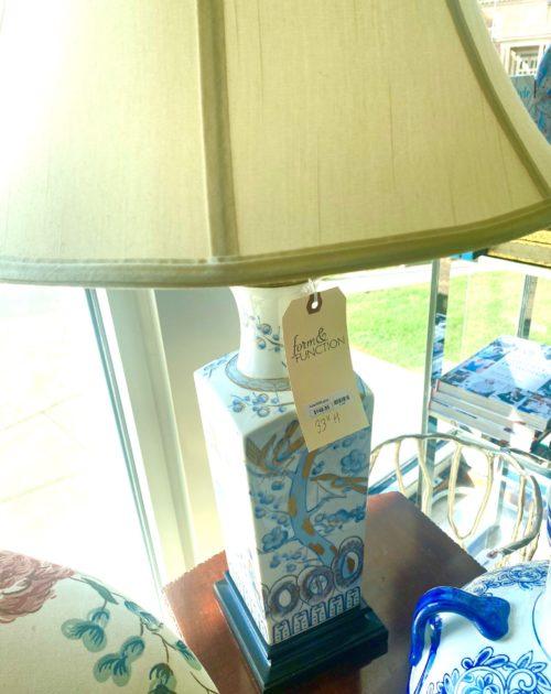 Blue White Gold Asian Lamp