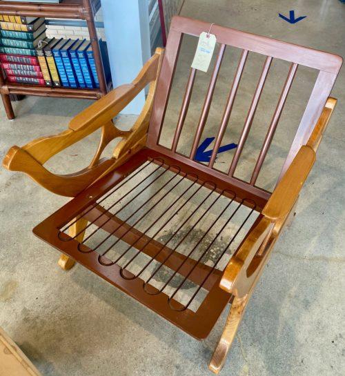 Mid Century Wood Low Slung Chair